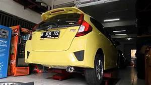 Honda Jazz Rs    Fit Gk5 Kakimoto Exhaust On Ck Motorsport