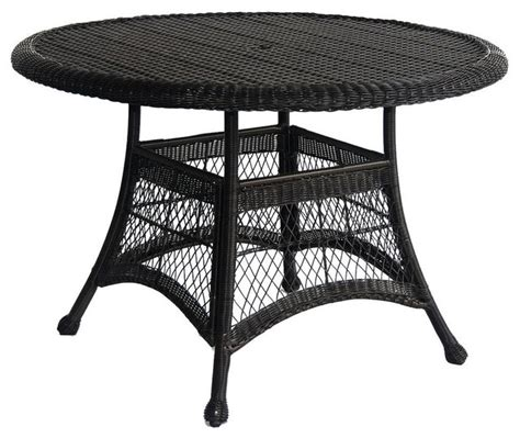 resin outdoor dining table black resin wicker 44 5 quot outdoor dining patio table with