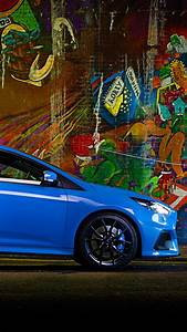 Wallpaper Ford Focus RS, hatchback, blue, Cars & Bikes #10417