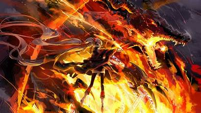 Wallpapers Awesome Epic Anime Fire Cool Dragon