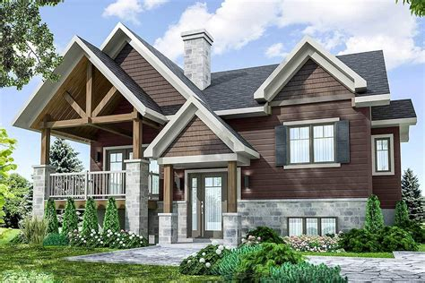 Split Level Craftsman House Plan