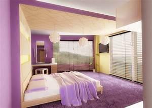 Wandgestaltung Schlafzimmer Lila : wandgestaltung schlafzimmer ideen 40 coole wandfarben schlafzimmer wandverkleidung zenideen ~ Markanthonyermac.com Haus und Dekorationen