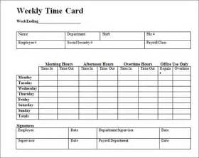 excel time clock template