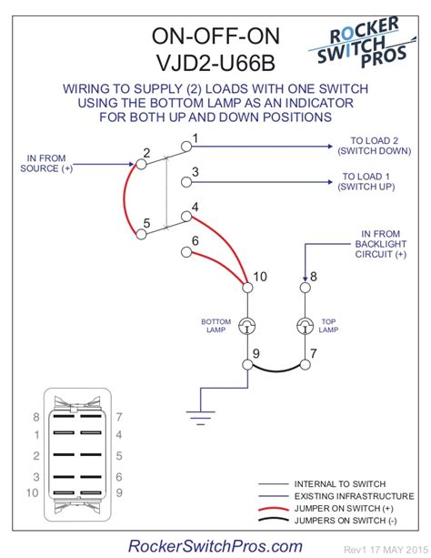 8 Terminal Rocker Switch Wiring Diagram by How To Wire An On On Switch For Both Backlighting And