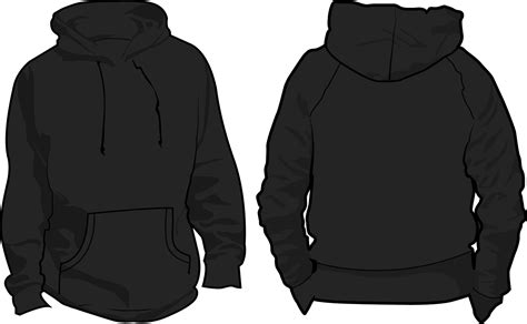 hoodie template clipart hooded sweatshirt pencil and in color
