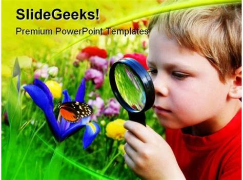 child observing nature powerpoint template