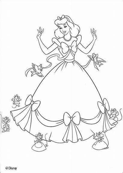 Coloring Cinderella Pages Children Disney Cartoons