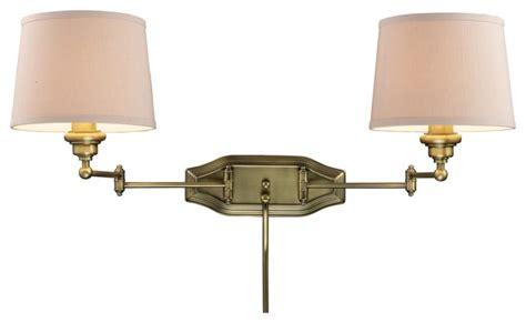 elk lighting westbrook 2 light dual swing arm sconce in
