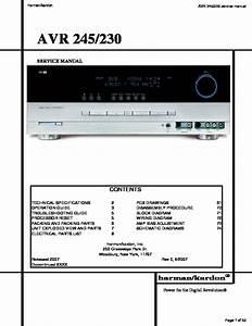 Harman Kardon Avr 245  Serv Man4  Service Manual
