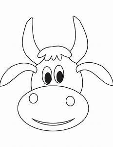 pin cattle clipart cow head 1 coloring page cow head With bull mask template