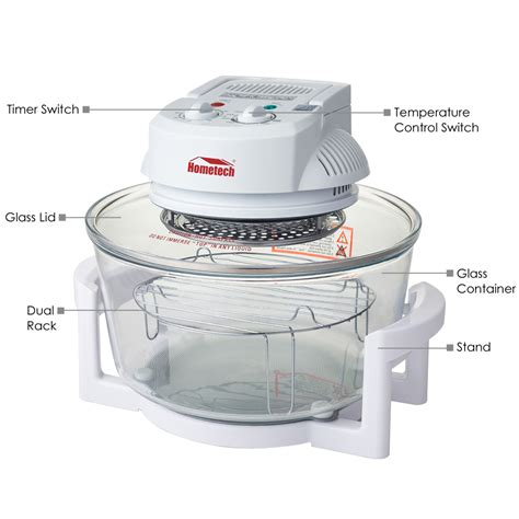oven convection air halogen countertop fryer ovens cooker hometech quart 1200w usa cooking toaster 1300w excelvan wave conventional rotisserie bake