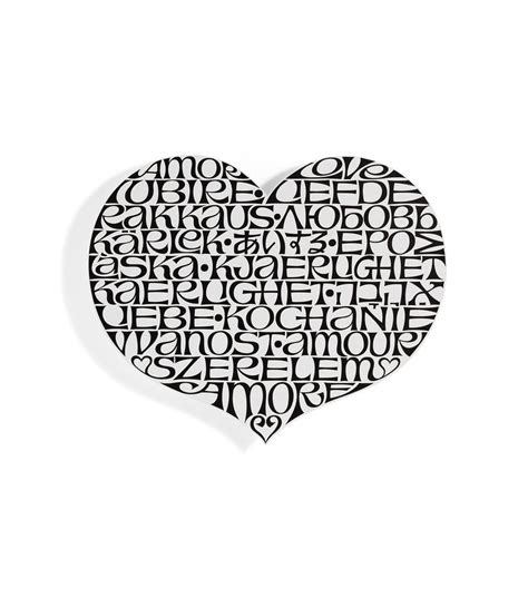 metal wall relief international love heart vitra