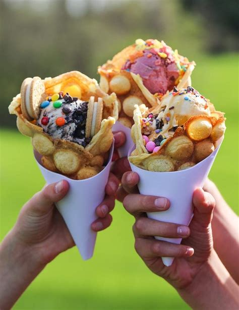 bubble waffles cookies  cups