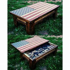 American flag coffee table/ hidden gun case House ideas
