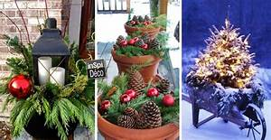 Noel Decoration Exterieur : pots de terre cuite en d co noel 20 id es tutoriel ~ Premium-room.com Idées de Décoration