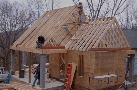 how to build a gable roof and extend the roof overhang