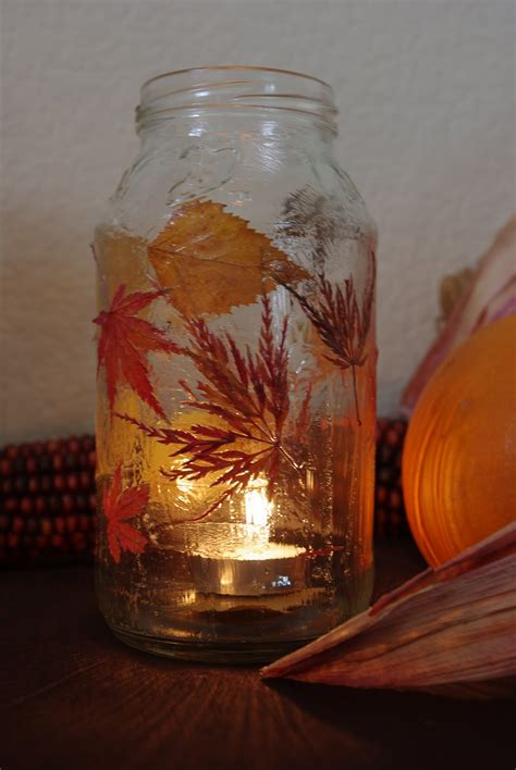 fall lanterns fall leaf lanterns tutorial happiness is homemade