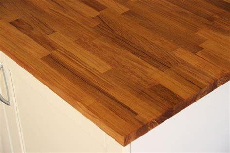 Arbeitsplatte  Küchenarbeitsplatte Massivholz Teak Kgz 36
