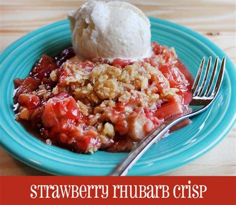 best rhubarb dessert recipes strawberry rhubarb crisp recipe