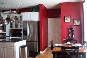 best 25 red kitchen walls ideas on pinterest red paint With kitchen colors with white cabinets with framed rooster wall art