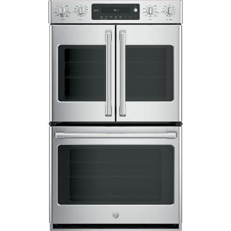 ge cafe  cleaning true convection double electric wall oven stainless steel common
