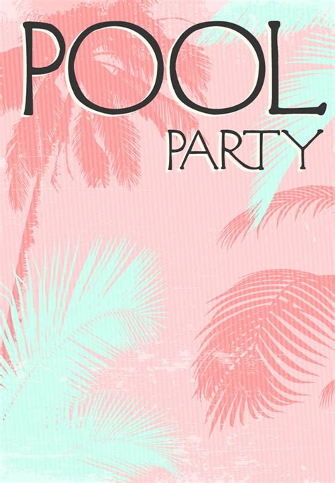 summer party invitation  printable fun   sun