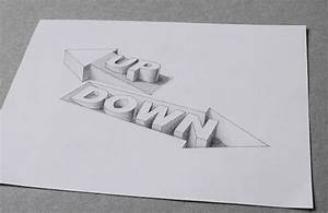 awesome 3d typography creates optical illusions of liquid With hollow 3d letters