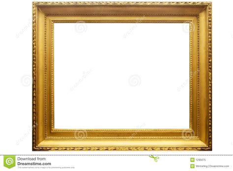 cadre de tableau d or rectangulaire avec le chemin photo libre de droits image 1295675