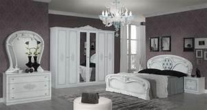 Barock Möbel Weiß : klassisches barock schlafzimmer set in wei und silber cristal 4 teilig ~ Markanthonyermac.com Haus und Dekorationen