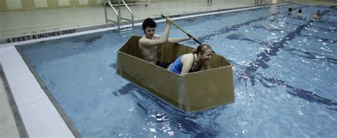 Cardboard Boat Buy by Cardboard Boat Offers West Valley Students Lessons In