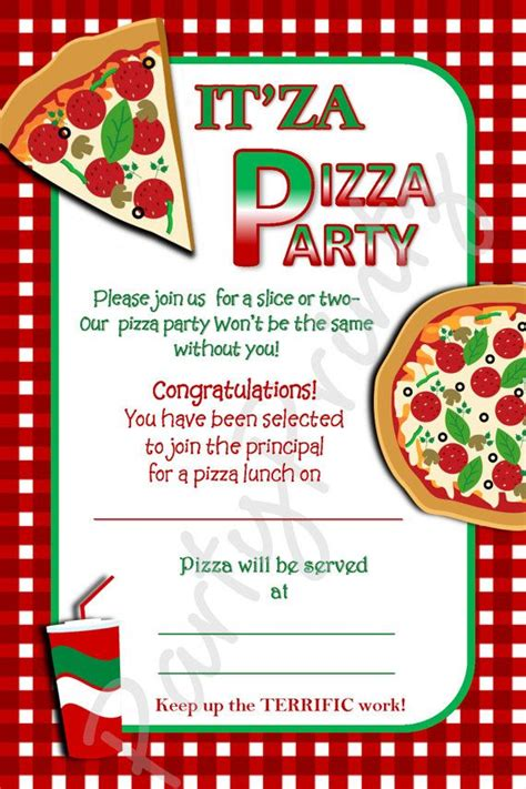 printable pizza party invitation template