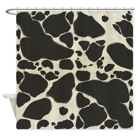 Cowhide Shower Curtain by Faux Holstein Cow Cowhide Pattern Shower Curtain By