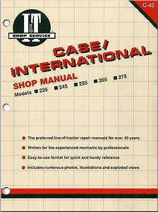 Case International Tractor Repair Manual By Clymer