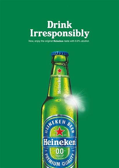 Drink Heineken Irresponsibly Early Advert Ad Morning