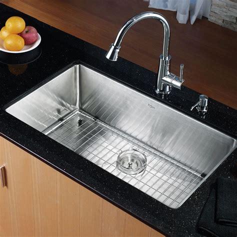 Ticor Vs Kraus Sinks by Kraus Khu10032 32 Inch Undermount Single Bowl Kitchen Sink