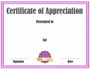 Free Certificate Template Free Editable Certificate Of Appreciation Customize Online Print At Home