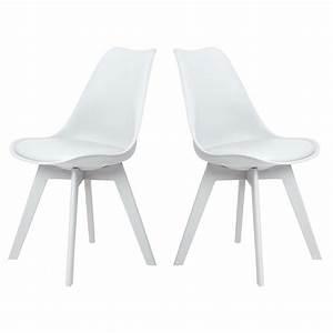 Chaise Bois Blanc : chaise helsinki blanc pieds bois lot de 2 chaise design topkoo ~ Teatrodelosmanantiales.com Idées de Décoration