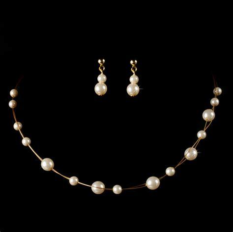 pearl flower girl jewelry set elegant bridal hair
