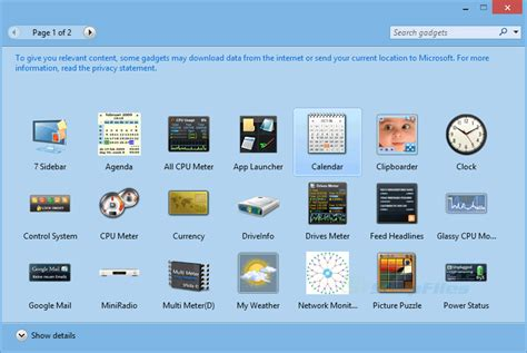 gadgets bureau windows 7 8gadgetpack screenshot and at snapfiles com