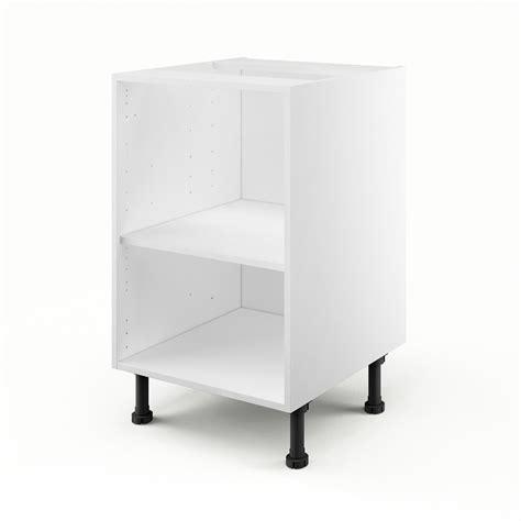 caisson de cuisine bas b50 delinia blanc l 50 x h 85 x p 56 cm leroy merlin