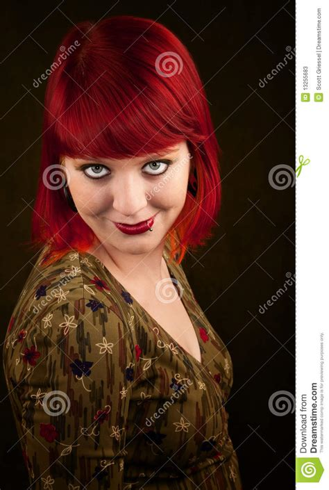 Punky Girl With Red Hair Stock Photos Image 13255683