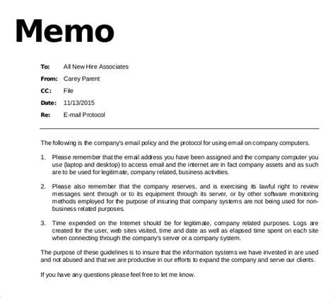 email memo templates  sample  format