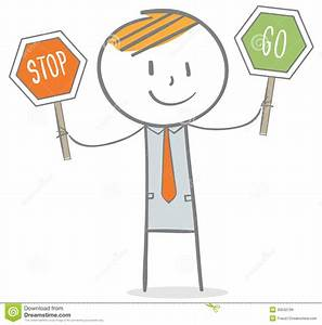 Stop And Go : businessman with stop and go sign stock vector illustration of doodle signal 35642199 ~ Medecine-chirurgie-esthetiques.com Avis de Voitures