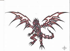 Red Eyes Black Dragon--tribal by penryck13 on DeviantArt