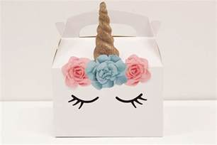 wedding party favor boxes diy unicorn party boxes free printables party delights