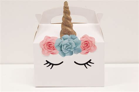 baby birthday dress diy unicorn boxes free printables delights