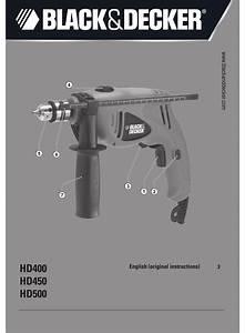 Black  U0026 Decker Hd450 Original Instructions Manual Pdf