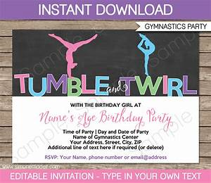 Birthday Candy Bar Wrappers Template Free Gymnastics Party Invitations Birthday Party Template