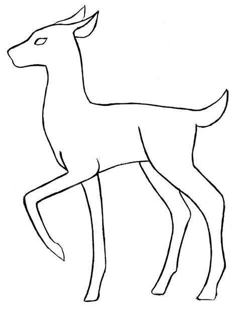 deer clipart easy draw pencil   color deer clipart