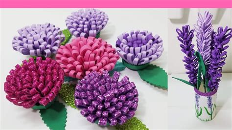 diy como hacer flores de foamy o goma eva fáciles Flores